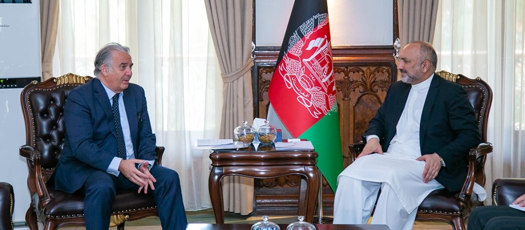 Farewell meeting of the Minister of Foreign Affairs with the Spanish Ambassador in Kabul