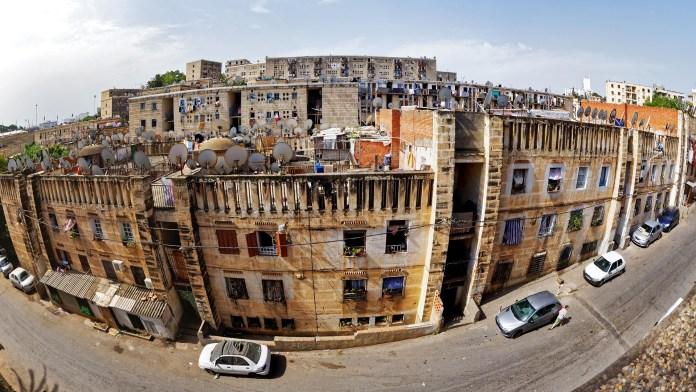 Algeria Media Satellite Dishes at Apartments