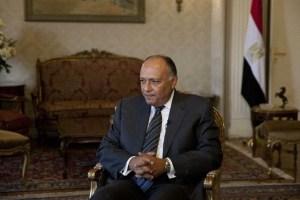 Il ministro degli Esteri egiziano Sameh Shukri
