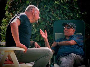 Babak Karimi con Abbas Kiarostami