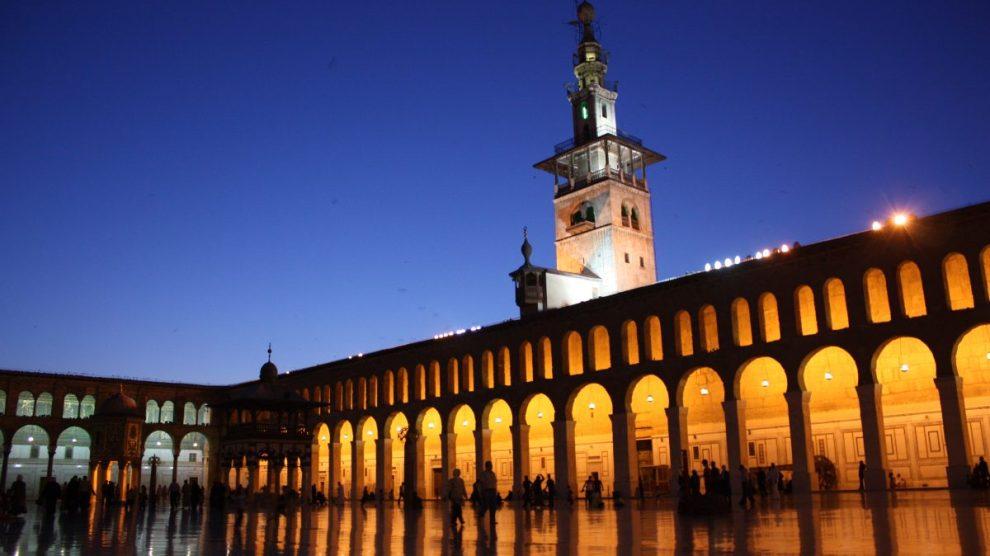 moschea omayyade, damasco, siria