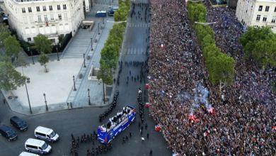 Photo of استقبال تاريخي حافل للمنتخب الفرنسي في باريس