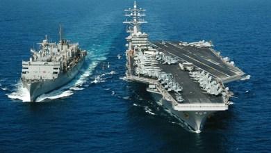 """Photo of البحرية الأمريكية : حاملتا طائرات تنفذان مناورات """"معقدة"""" فى بحر الفلبين"""
