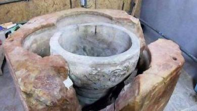Photo of اكتشاف جرن المعمودية خلال أعمال ترميم كنيسة المهد في بيت لحم