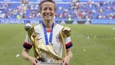 """Photo of كتاب جديد للأمريكية """"ميجان رابينو"""" بطلة العالم لكرة القدم النسائية"""