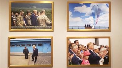 Photo of صورة جديدة لترامب وكيم جونج أون على جدران البيت الأبيض