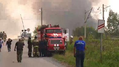 Photo of حريق في مستودع للذخيرة في روسيا