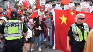 Photo of آلاف المتظاهرين يتواجهون في كندا دعمًا للصين وهونج كونج