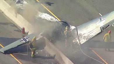 Photo of تحطم طائرة على طريق سريع في ولاية ميريلاند الأمريكية