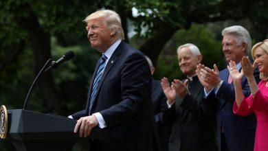 "Photo of ترامب: سأفوز في الانتخابات واستطلاعات تأييد عزلي ""مزيفة"""