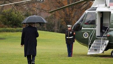 Photo of ترامب ينسى اصطحاب زوجته ميلانيا للطائرة (فيديو)