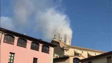 Photo of حريق بكنيسة كتالونيا ينهي احتفالات رأس السنة مبكرًا