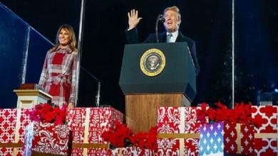 Photo of ترامب وميلانيا يطلقان احتفالات أعياد الميلاد في واشنطن (صور وفيديو)