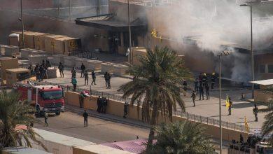 Photo of انفجارات بالمنطقة الخضراء في بغداد قرب السفارة الأمريكية