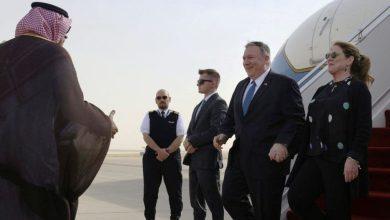 Photo of بومبيو يصل السعودية لإجراء مباحثات حول التهديدات الإيرانية