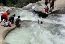 Photo of شرطي في كاليفورنيا يستخدم طريقة ذكية لإنقاذ رجل من شلال ماء