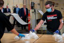 Photo of للمرة الثانية.. ترامب يظهر بدون كمامة خلال تفقد مصنع فى بنسلفانيا