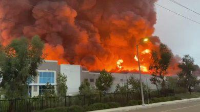 """Photo of حريق يلتهم أكبر مخازن """"أمازون"""" بكاليفورنيا.. هل تتأثر طلبات العملاء؟"""