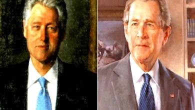 Photo of لماذا أزال ترامب صورتي كلينتون وبوش الابن من مدخل البيت الأبيض؟