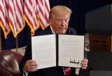 Photo of ترامب يُقرّ إعانة بطالة بقيمة 400 دولار ضمن 4 إجراءات لصالح الأمريكيين