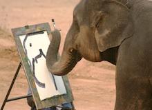 مقتطف : فيل رسّام