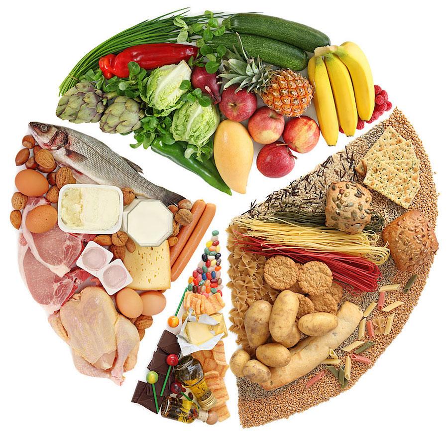 تناول نظام غذائي متوازن