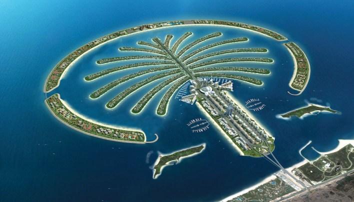 نخلة الجميرة في دبي بالإمارات