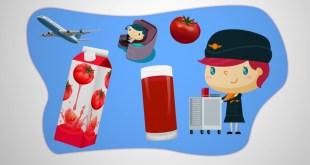 مقال - تعرف على سر إقبال ركاب الطائرات على عصير الطماطم