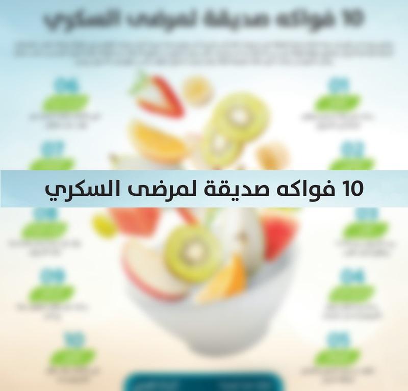 إنفوغرافيك - 10 فواكه صديقة لمرضى السكري