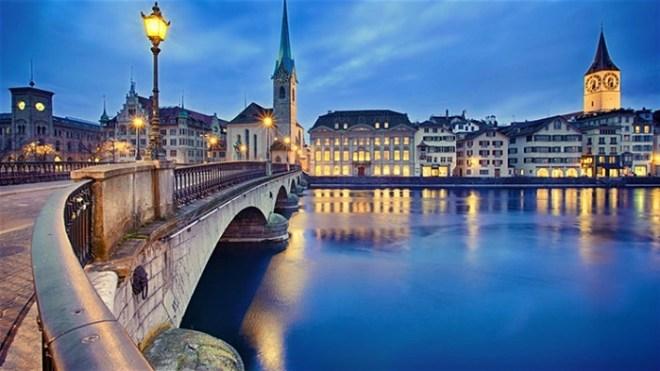 زيورخ (سويسرا) أغلى مدينة في العالم، وهي أغلى بنسبة 16.8% من نيويورك