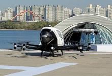 سيارة أجرة طائرة تحلق في سماء سول