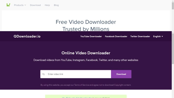 Download videos from YouTube, Instagram, Facebook, Twitter, and many other websites