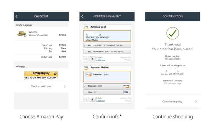 amazon pay checkout