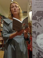 Clare reading at Housmans