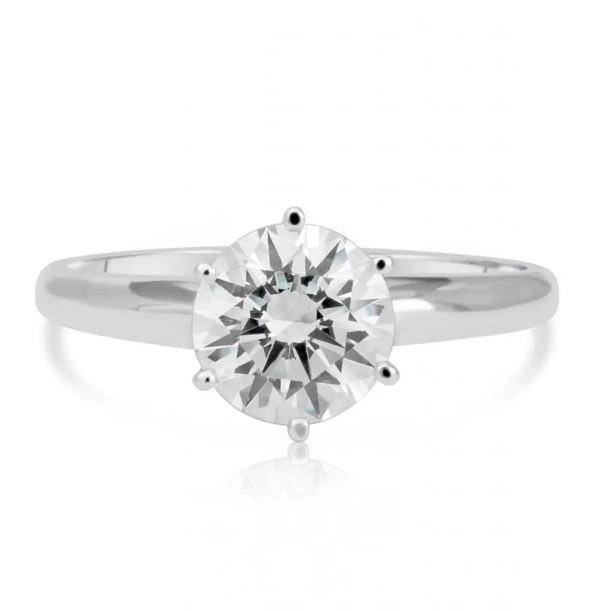 1.20 Ct Round Cut Vs1 Diamond Solitaire Engagement Ring 14K White Gold 4