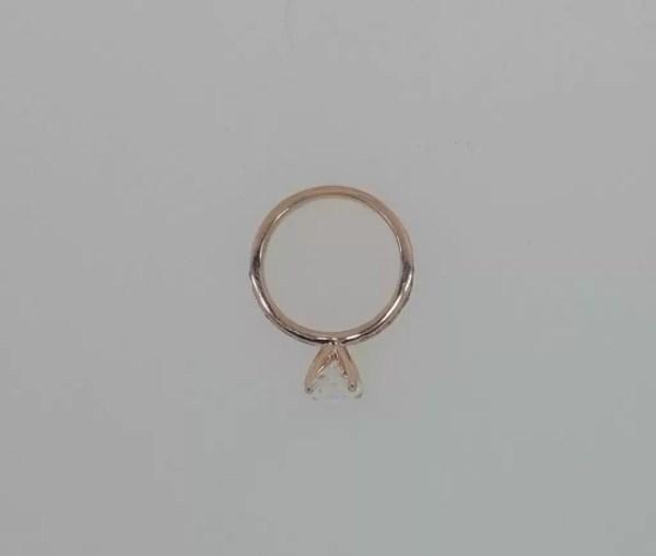 1.7 Carat Round Cut Diamond Engagement Ring 14K Rose Gold 3
