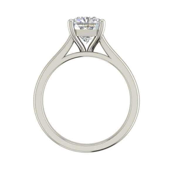 Solitaire 2.25 Carat VS1 Clarity H Color Cushion Cut Diamond Engagement Ring White Gold 2