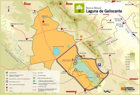 Mapa de la Reserva Natural. Fuente: Red Natural de Aragón.