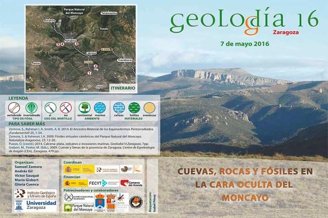 folleto de Geolodía Zaragoza 2016