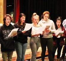 Girls singing warmup