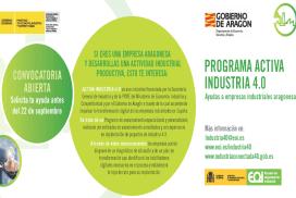 """Convocatoria de ayudas dirigidas a impulsar la transformación digital de la Industria Aragonesa en el marco del proyecto """"ACTIVA Industria 4.0"""""""