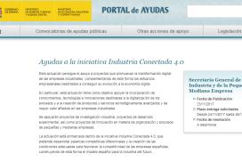 Convocatoria para la concesión de ayudas dirigidas a proyectos de I+D+i en el ámbito de Industria Conectada 4.0 en el año 2017