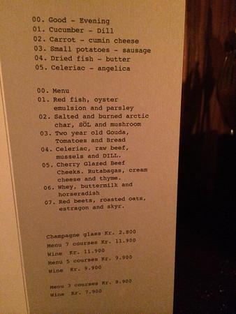 tasting menu at Dill
