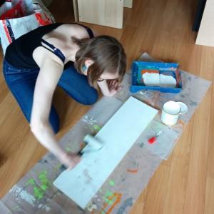 étagère peinture