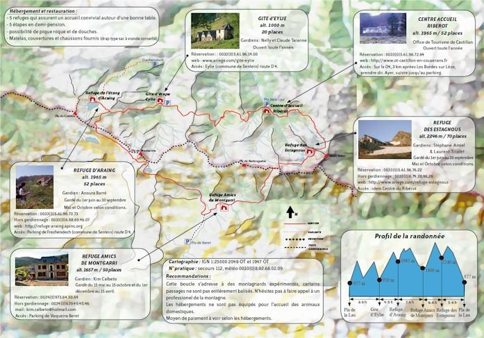 Plànol de la ruta del Pass dAran