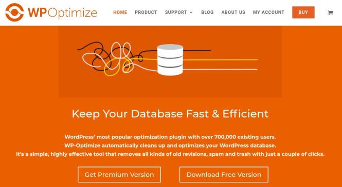 WP-Optimize automatically cleans up and optimizes your WordPress database