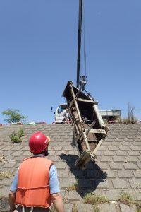 菅間堰遡上補助施設の撤去作業を行いました。
