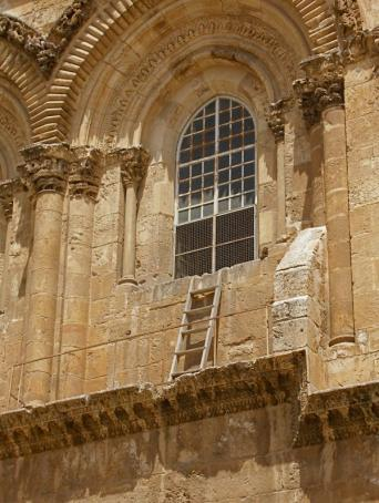 Immovable Ladder on the Church of Holy Sepulchre