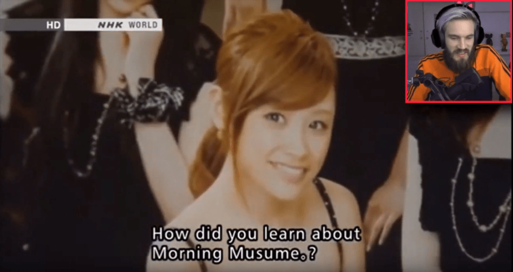 PewDiePie uploads video with Morning Musume content; video gets taken down for infringement