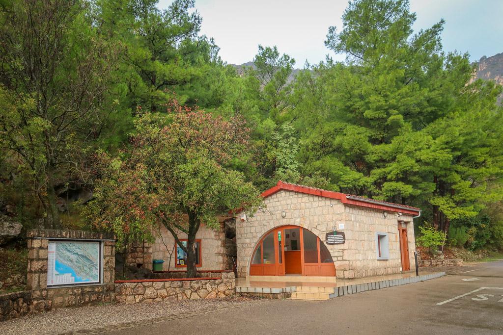 Entrance Station for Paklenica National Park along the entrance road
